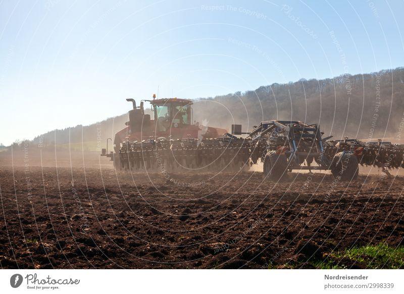 Moderne Landwirtschaft Sommer Landschaft Wald Herbst Frühling Arbeit & Erwerbstätigkeit modern Feld Erde Schönes Wetter Zukunft Hügel Güterverkehr & Logistik