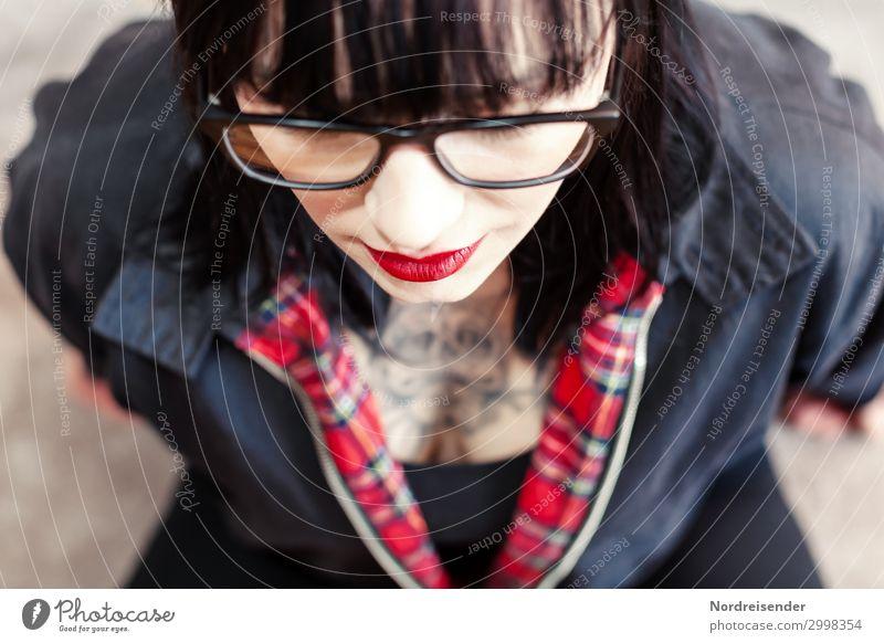 Robbin schön Gesicht Schminke Lippenstift ausgehen Feste & Feiern Mensch feminin Junge Frau Jugendliche Erwachsene 1 Mode Bekleidung T-Shirt Jacke Accessoire