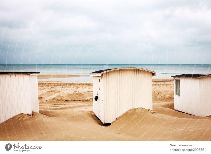 Häuschen am Strand Ferien & Urlaub & Reisen Tourismus Meer Natur Landschaft Urelemente Sand Wasser Küste Nordsee Ostsee Hütte klein maritim niedlich Romantik