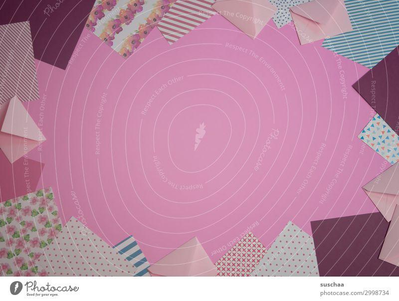 briefpapier (rottöne) Papier rosa Schreibpapier Schreibwaren gestreift gepunktet einfarbiger Hintergrund Textfreiraum Karte Postkarte Dekoration & Verzierung