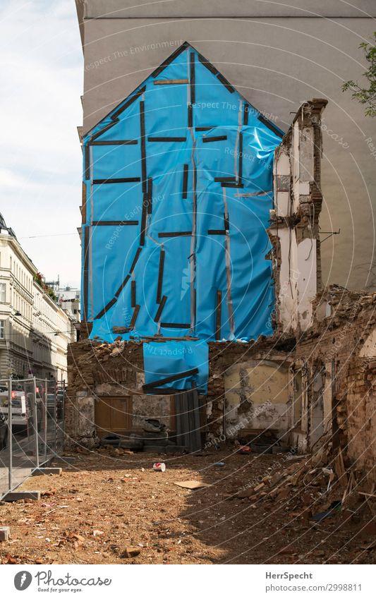 one home less Wien Stadtzentrum Altstadt Haus Bauwerk Gebäude Mauer Wand hässlich kaputt trist standhaft Endzeitstimmung Vergänglichkeit verlieren