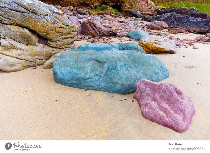 Witherocks Beach in Irland Erholung Tourismus Sommer Strand Meer Landschaft Sand Wasser Wolken Felsen Küste Stein Farbe Ferien & Urlaub & Reisen Atlantik Ebbe