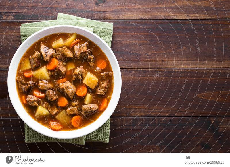 Rindfleisch-Eintopf Fleisch Gemüse Suppe Schalen & Schüsseln frisch Lebensmittel schmoren Möhre Kartoffeln kochen & garen Gulasch gebastelt Mahlzeit Speise