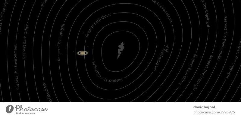 Saturn Himmel Natur Umwelt Technik & Technologie Zukunft Stern beobachten Fernweh Wissenschaften Ring Mond Nachthimmel Fortschritt Planet High-Tech Teleskop