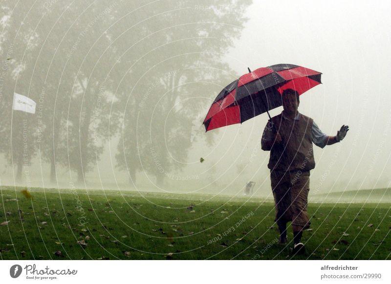 Hardcore Golf Regen Regenschirm Golfplatz Golfer