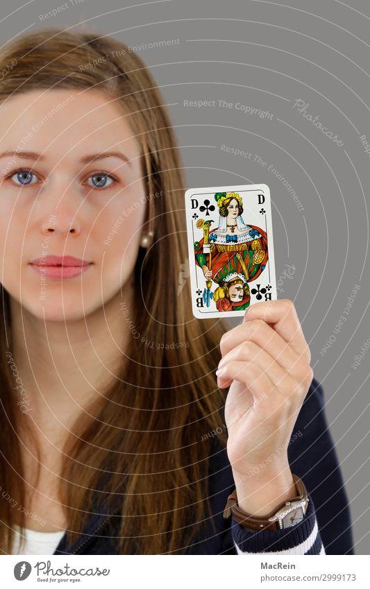 Unisex Mensch feminin Frau Erwachsene Mann Gesicht 1 30-45 Jahre gleich Dame Geschlecht Gleichstellung Symbole & Metaphern Spielkarte Farbfoto Studioaufnahme