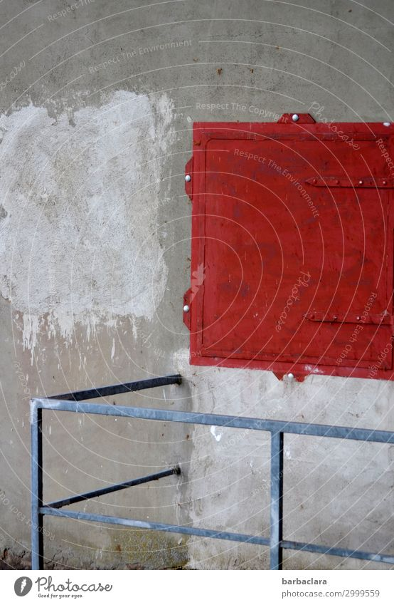 Isolation   abgesperrt Technik & Technologie Energiewirtschaft Wasserkraftwerk Maler Bauwerk Mauer Wand Fassade Geländer Kasten Container Stromkasten Beton