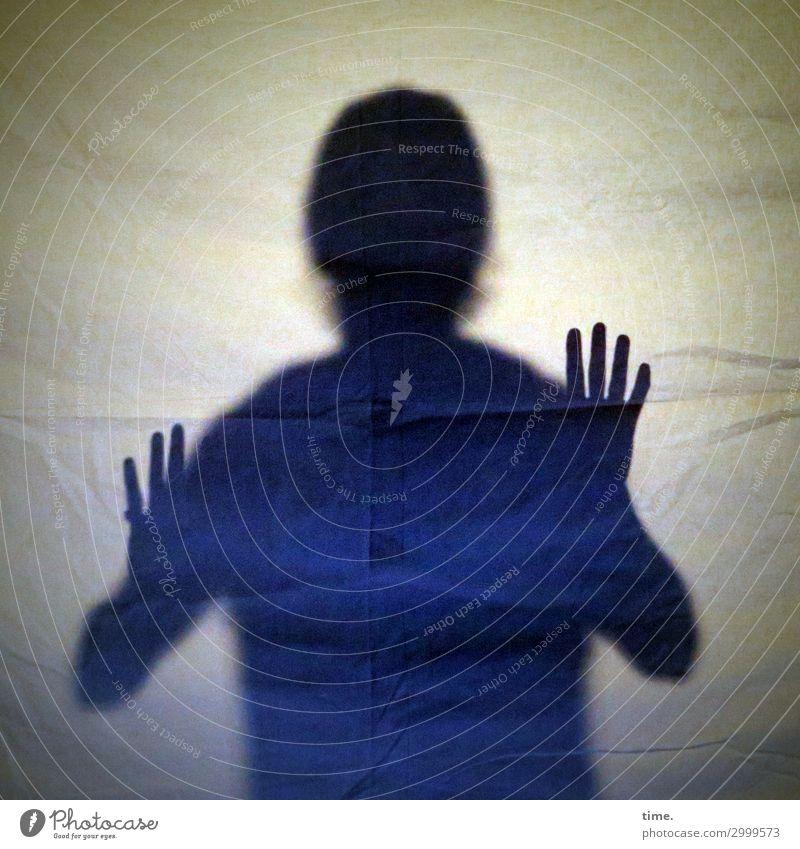 Isolation Mensch Mann Hand Erwachsene Gefühle Kunst Kopf Angst maskulin träumen Kommunizieren Kreativität gefährlich bedrohlich Neugier entdecken