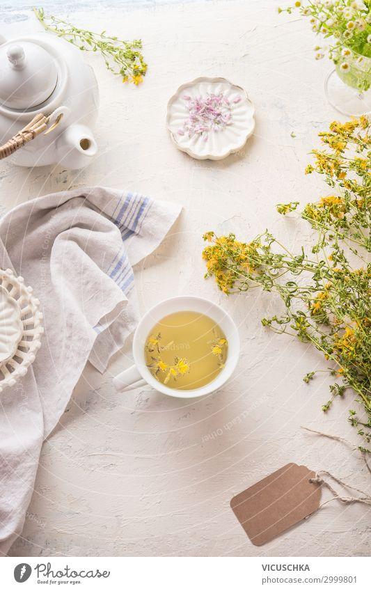 Frischer Kräutertee Lebensmittel Kräuter & Gewürze Getränk Heißgetränk Tee Tasse Design Gesundheit Alternativmedizin Gesunde Ernährung Kur Häusliches Leben
