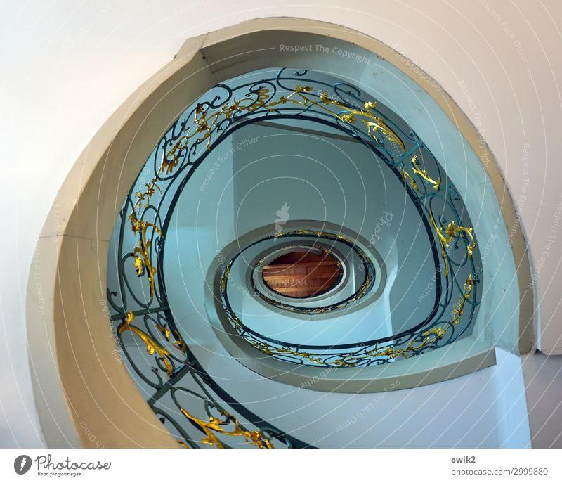 Spirale Haus Gebäude Architektur Treppe Wendeltreppe rund gelb rot türkis bizarr Design Treppengeländer schrullig Rokoko aufwärts Berlin-Mitte Hackesche Höfe