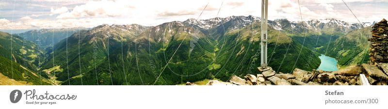 Val Senales Berge u. Gebirge Landschaft groß Rücken Italien Hügel Mensch Umwelt Tal Stausee Ötztal