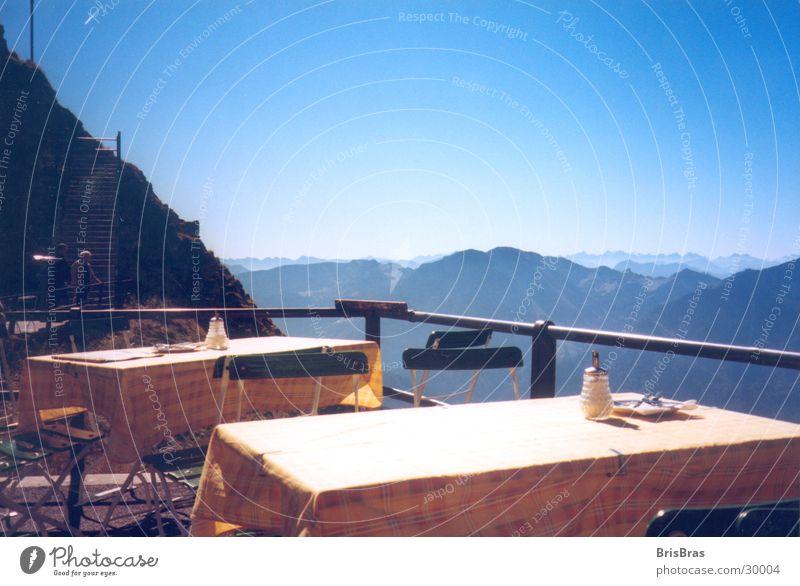 Schöne Aussicht Himmel Berge u. Gebirge Landschaft wandern Ausflug Tisch Europa Pause Alpen Bayern Zuckerstreuer