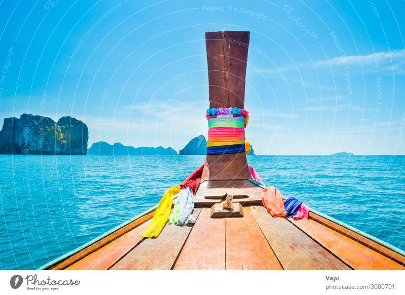 Himmel Ferien & Urlaub & Reisen Natur Sommer blau schön grün Wasser weiß Landschaft rot Meer Erholung Wolken Lifestyle Holz