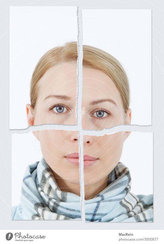 Zerissenheit Mensch feminin Kopf 1 30-45 Jahre Erwachsene schön Krankheit Angst Zukunftsangst Stress Verzweiflung verstört Schüchternheit Frau Junge Frau