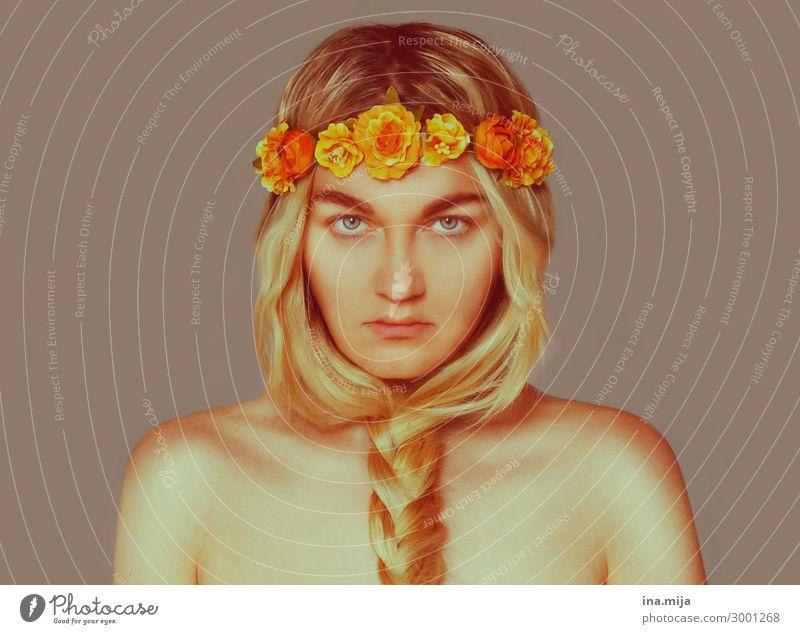 _ Mensch Jugendliche Junge Frau 18-30 Jahre Erwachsene Leben natürlich feminin Stil außergewöhnlich Haare & Frisuren blond authentisch einzigartig exotisch