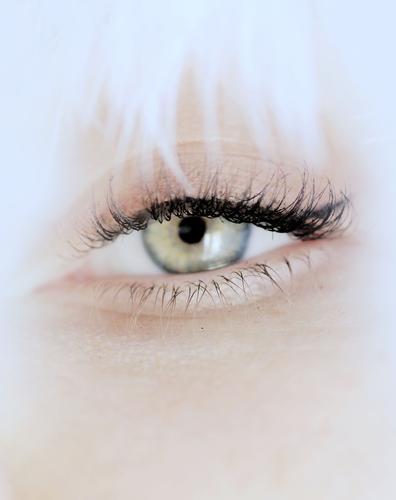 . elegant Stil schön Körperpflege Haut Gesicht Kosmetik Schminke Mensch feminin Junge Frau Jugendliche grün weiß Augenfarbe Augenheilkunde Augenzeuge