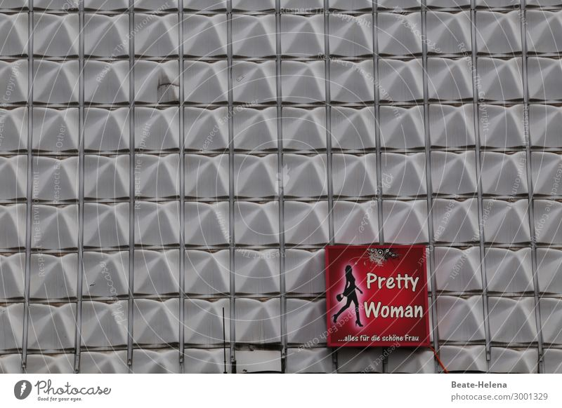 Pretty Woman Lifestyle kaufen elegant Stil schön Handel Kaufhaus Mauer Wand Fassade Mode Bekleidung Blühend glänzend sparen ästhetisch außergewöhnlich exotisch