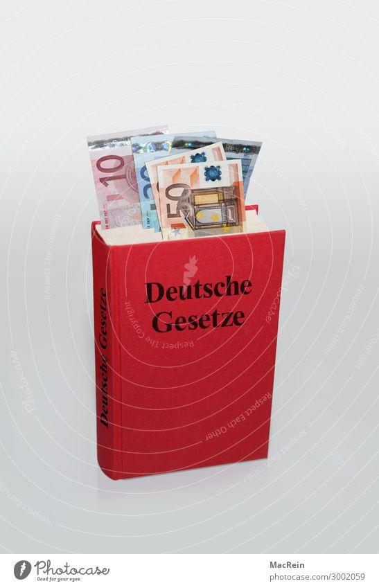 Bestechung Geld Buch Zeichen Gier Ungerechtigkeit betrügen egoistisch Politik & Staat Verfall Euroschein Geldscheine Gesetze und Verordnungen