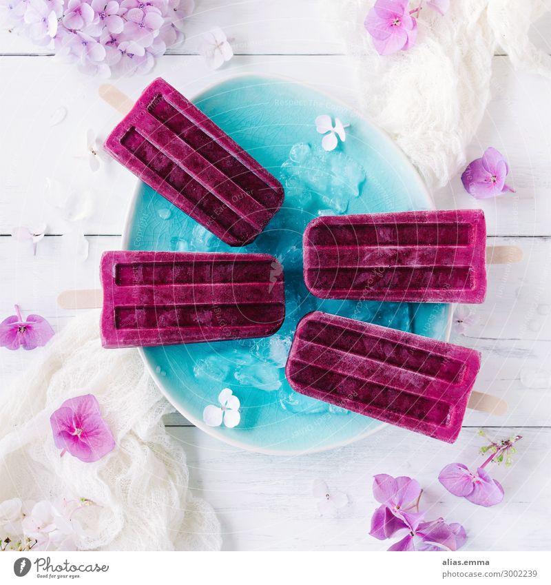 Brombeer Ombre Eis am Stiel Brombeer Ombre Eis am Stiel eis am stiel Speiseeis Brombeeren ombre holzstiel kalt gefroren Sommer Erfrischung violett rosa Joghurt