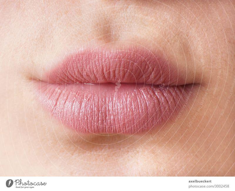 weibliche Lippen schön Gesicht Kosmetik Schminke Lippenstift Mensch feminin Junge Frau Jugendliche Erwachsene Mund 1 13-18 Jahre 18-30 Jahre Erotik rosa