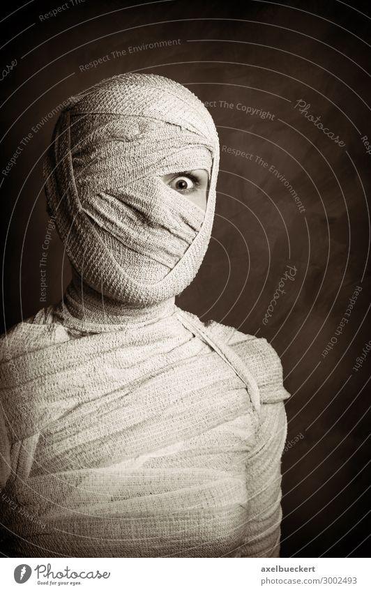 weibliche Mumie Freizeit & Hobby Spielen Karneval Halloween Mensch feminin Junge Frau Jugendliche Erwachsene Leben 1 18-30 Jahre außergewöhnlich bedrohlich