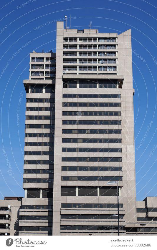 Hochhaus Lister Tor in Hannover - Brutalismus Stadt Haus Gebäude Architektur Fassade hässlich grau Großstadt Deutschland lister tor brutalismus Siebziger Jahre