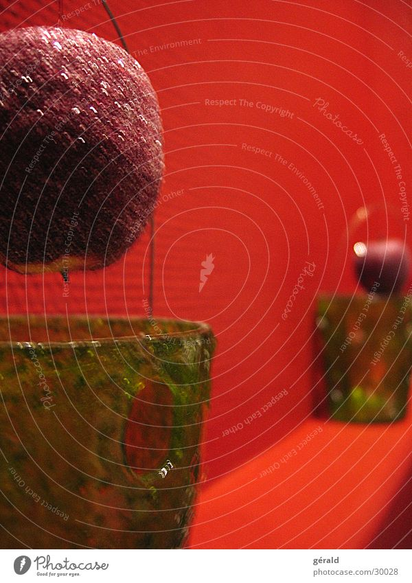 pomm pomm reloaded rot Mauer Dekoration & Verzierung Apfel Statue Topf