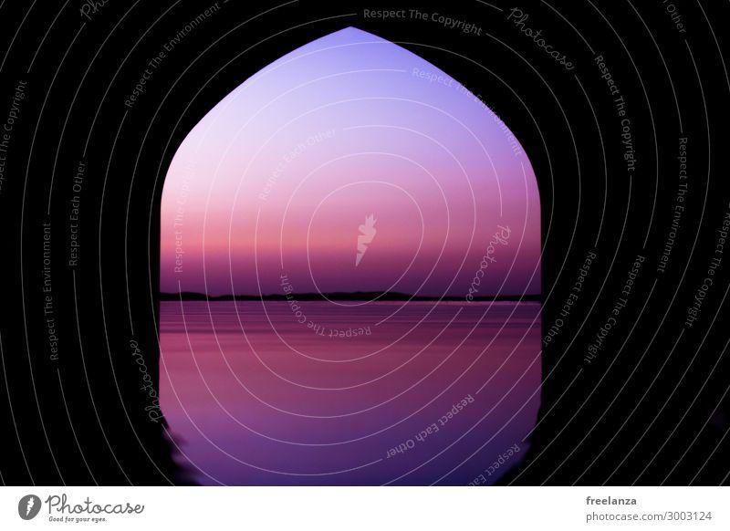 1001 Nacht Haus Fassade blau violett orange rosa schwarz Verschwiegenheit Warmherzigkeit schön Fernweh Abenteuer Erholung Ferien & Urlaub & Reisen Stil Stimmung