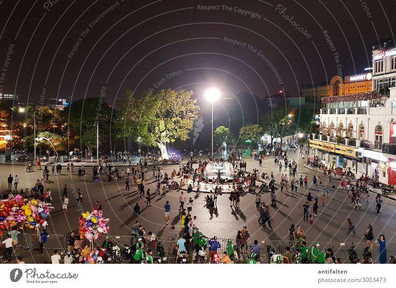 Feiertag in Hanoi Ferien & Urlaub & Reisen Tourismus Ausflug Ferne Sightseeing Städtereise Sommer Nachtleben Party Veranstaltung Feste & Feiern Jahrmarkt Mensch