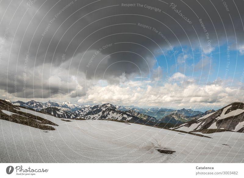 Höhe Himmel Natur Sommer blau weiß Landschaft Einsamkeit Berge u. Gebirge Umwelt kalt Schnee grau Felsen Stimmung Horizont Eis