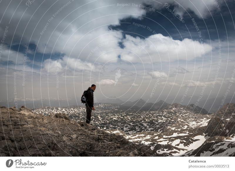 Isolation | ganz oben Himmel Sommer blau weiß Landschaft Wolken Ferne Berge u. Gebirge Leben Umwelt kalt Schnee Freiheit braun Stimmung Ausflug