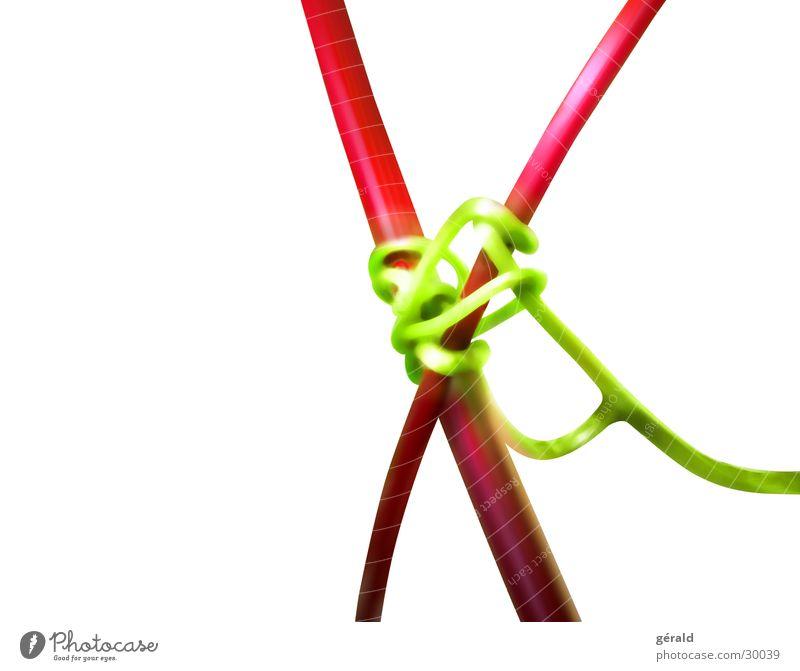 Naturgrafik weiß grün Pflanze rot Stengel Grafik u. Illustration