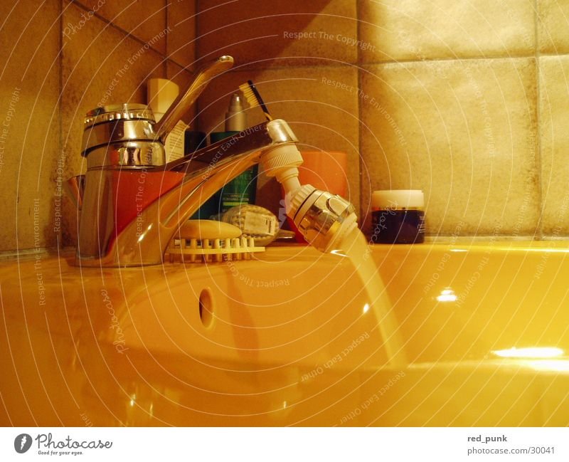 Bad Mensch Wasser Haus gelb