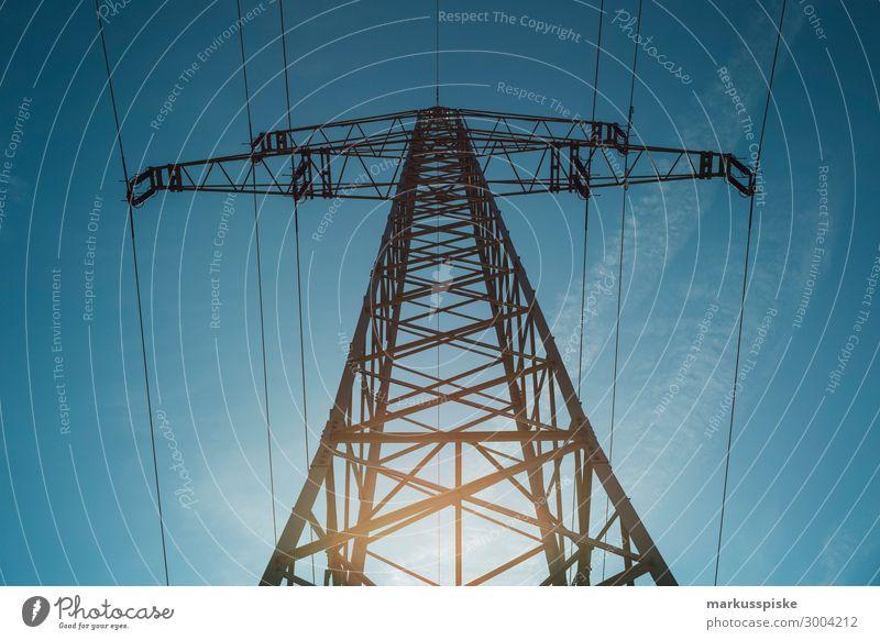 Stromversorgung Bewegung Business Arbeit & Erwerbstätigkeit Energiewirtschaft Industrie Elektrizität Beruf Dienstleistungsgewerbe Wirtschaft Strommast