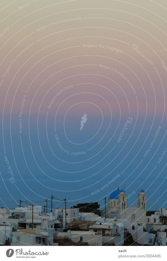Das Licht der Kykladen Himmel Sonnenaufgang Sonnenuntergang Küste Meer Mittelmeer Ägäis Insel Serifos Griechenland Dorf Fischerdorf Haus Kirche Häusliches Leben