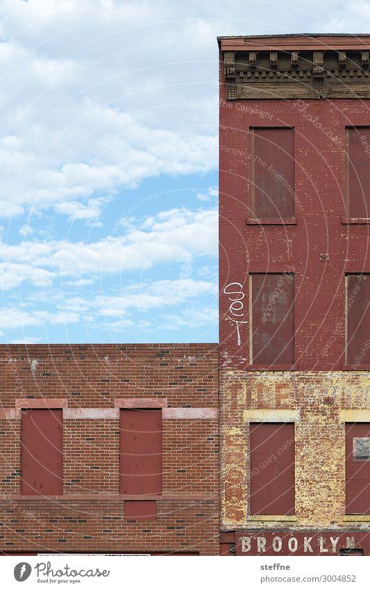 BROOKLYN Stadt graphisch Brooklyn Schriftzeichen malerisch New York City Backsteinfassade USA Industrie start-up Farbfoto mehrfarbig Menschenleer
