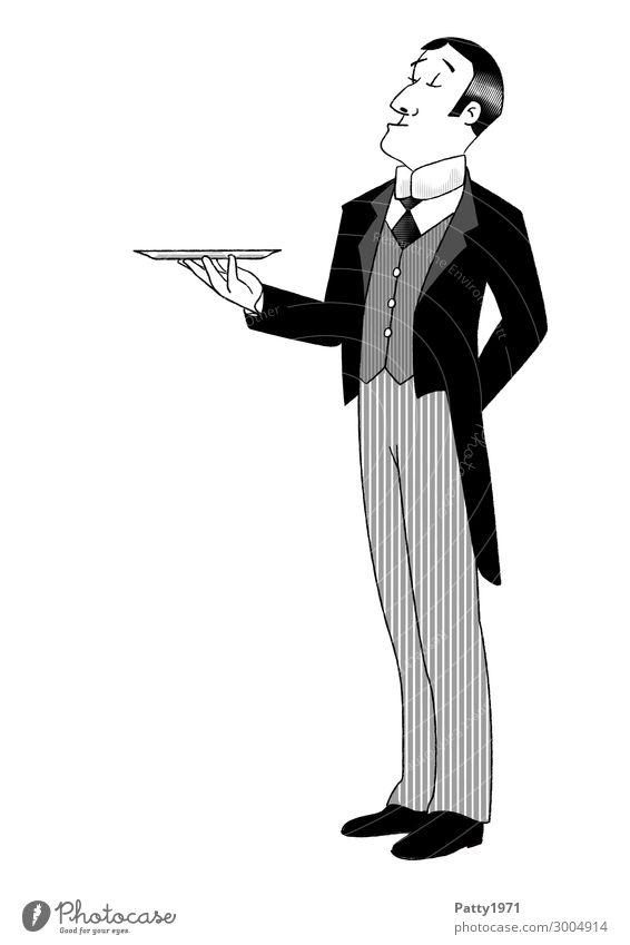 Butler Mensch Jugendliche Mann 18-30 Jahre Lifestyle Erwachsene Stil Business Arbeit & Erwerbstätigkeit maskulin elegant 45-60 Jahre stehen