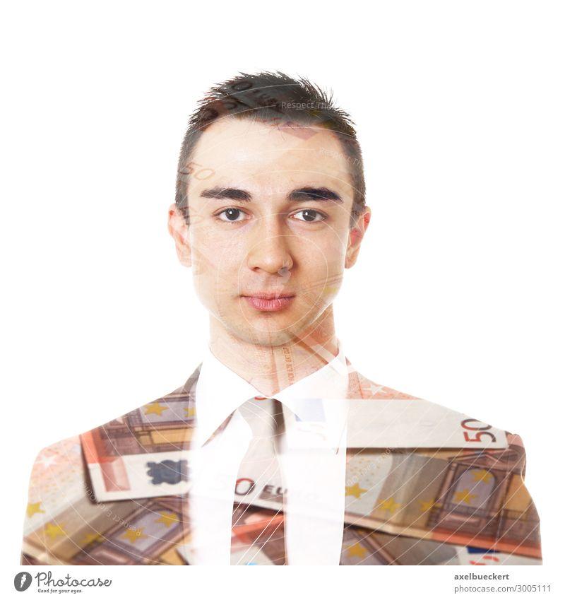 junger Geschäftsmann mit Euroscheinen Mensch Jugendliche Mann Junger Mann 18-30 Jahre Lifestyle Erwachsene Business Arbeit & Erwerbstätigkeit maskulin Erfolg
