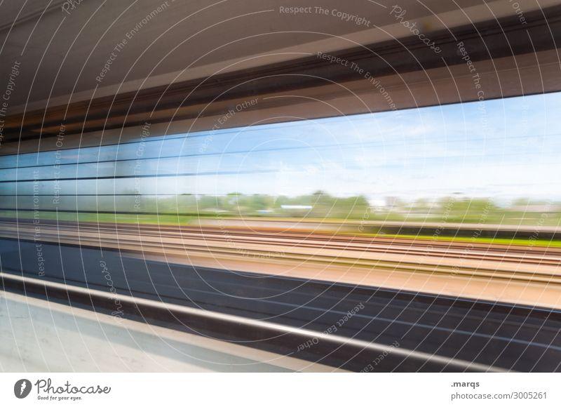 Reise Reise Ferien & Urlaub & Reisen Ausflug Landschaft Schönes Wetter Fenster Verkehr Personenverkehr Bahnfahren Schienenverkehr Zugabteil Geschwindigkeit