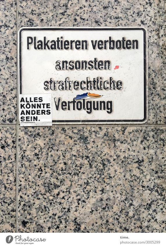 Alternative Mauer Wand Marmor Stein Schriftzeichen Schilder & Markierungen Hinweisschild Warnschild Graffiti Leben Hochmut Übermut gereizt Frustration trotzig