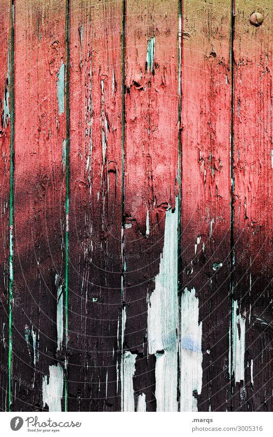 Holzwand Mauer Wand alt kaputt rot schwarz weiß Verfall Wandel & Veränderung Hintergrundbild Farbfoto Außenaufnahme Nahaufnahme Strukturen & Formen Menschenleer