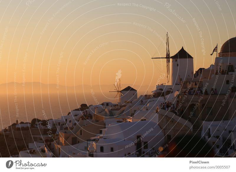 Santorin Ferien & Urlaub & Reisen Natur schön Landschaft Meer Strand Lifestyle Gefühle Stil Tourismus orange Stimmung Insel Schönes Wetter Sommerurlaub