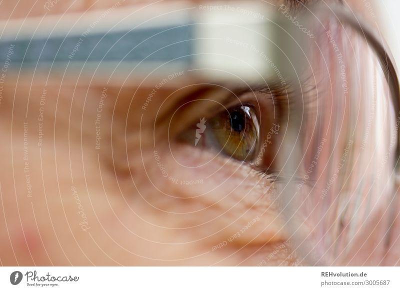 Auge einer Seniorin Mensch feminin Frau Erwachsene Weiblicher Senior Großmutter Leben Brille beobachten alt authentisch Neugier Zukunft Blick Wimpern