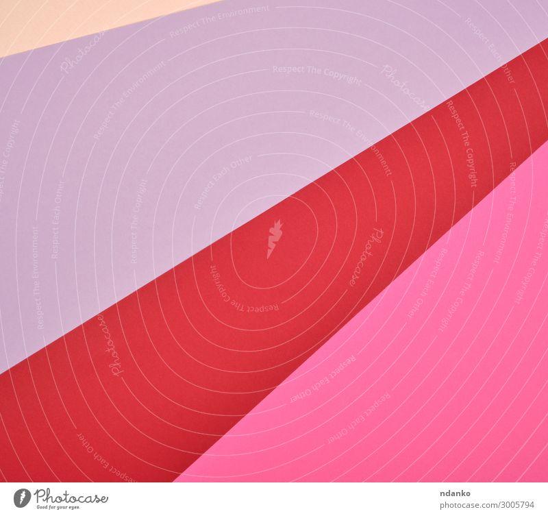 abstrakter Hintergrund aus mehrfarbigen Streifen und Formen Stil Design Dekoration & Verzierung Handwerk Kunst Papier trendy modern rot Farbe Kreativität
