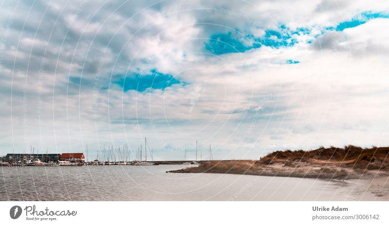 Hafen von Grenaa Tapete Umwelt Natur Landschaft Wasser Himmel Wolken Horizont Sonnenlicht Wellen Küste Strand Bucht Ostsee Meer Dänemark Europa Fischerdorf