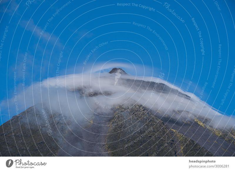 Der Gipfel des Vulkans Pico mit Wolken, Pico, Azoren Ferien & Urlaub & Reisen Tourismus Ausflug Abenteuer Ferne Freiheit Expedition Berge u. Gebirge Sport