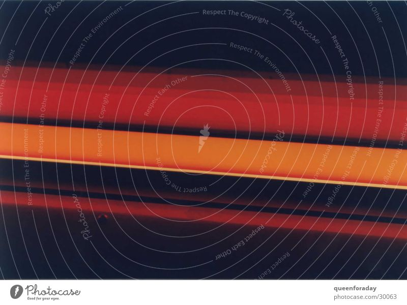 orange Leuchtstoffröhre Lampe Licht Häusliches Leben mehrfarbig