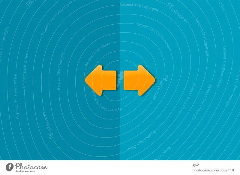 Pfeil nach links, Pfeil nach rechts sprechen Wege & Pfade Zufriedenheit Kommunizieren ästhetisch Schilder & Markierungen Perspektive Papier Zeichen planen