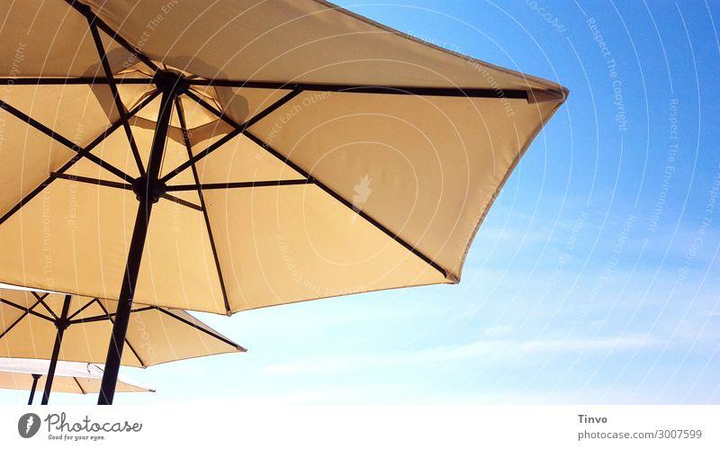 Sonnenschirme Himmel Ferien & Urlaub & Reisen Sommer Wärme Schönes Wetter Klima Schutz Klimawandel sommerlich Wetterschutz