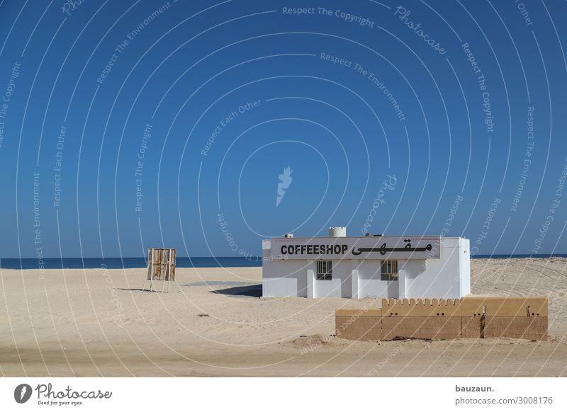 coffeeshop. kaufen Ferien & Urlaub & Reisen Tourismus Ferne Haus Umwelt Natur Sand Himmel Wolkenloser Himmel Sonne Sommer Klima Schönes Wetter Strand Meer Oman